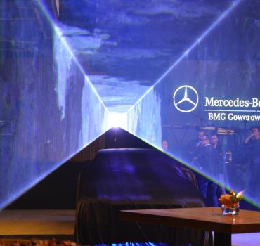 LaserSync premiera Mercedesa Klasy E dla BMG Goworowski 1