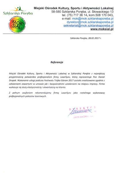 MOKSiAL Szklarska Poręba Referencje a
