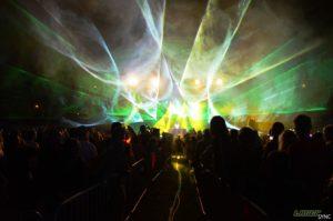 LaserSync oprawa laserowa 'Live' C-BooL, Karbonalia 2018, Bogatynia