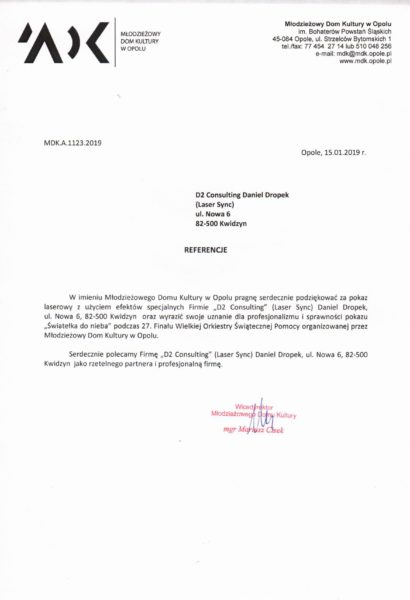 Opole MDK Referencje